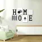 Kit Decoração Home Cinza + Presente (Palavra de Parede Gratidão)