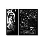 Kit Esculturas de Parede Tigres