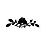 Escultura de Parede Passarinhos Love
