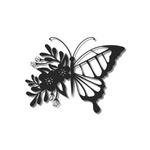 Escultura de Parede Borboleta Flores