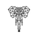 Escultura de Parede Elefante Geométrico