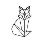 Escultura de Parede Raposa Geométrica