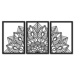 Kit Esculturas de Parede Mandala