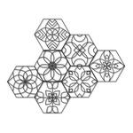 Kit 7 Esculturas de Parede | Decoração Mandalas + Presente (Palavra de Parede Gratidão)