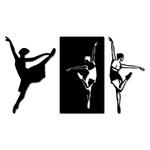 Kit Esculturas de Parede Bailarinas