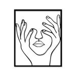 Escultura de Parede Silhueta Mãos