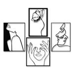 Kit 4 Esculturas de Parede | Decoração Bella + Presente (Palavra de Parede Gratidão)