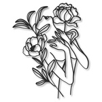 Escultura de Parede Mulher Flores