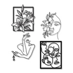 Kit 4 Esculturas de Parede | Decoração Mon Chéri + Presente (Palavra de Parede Gratidão)