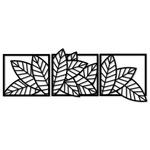 Kit Esculturas de Parede Quadros Folhas
