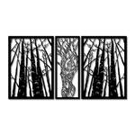 Kit Esculturas de Parede Mulher Árvores