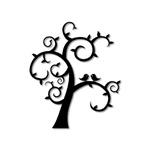 Escultura de Parede Árvore Passarinho