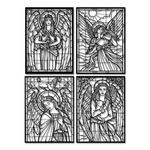 Kit 4 Esculturas de Parede | Decoração Vitrais + Presente (Palavra de Parede Gratidão)