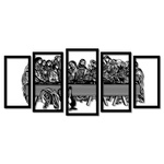 Kit Esculturas de Parede Santa Ceia