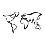 Escultura de Parede Mapa Minimalista