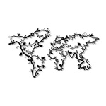 Esculturas de Parede Mapa Ramos