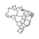 Escultura de Parede Mapa Brasil