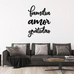 Kit Palavras de Parede Família Amor Gratidão