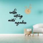 Kit Palavras de Parede Confio Entrego Aceito Agradeço