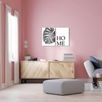 Kit 2 Placas Decorativas Folha Home