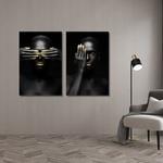 Kit Quadros Decorativos Mulheres Dourado