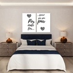 Kit Quadros Decorativos Casal Onde For Par