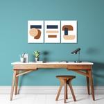 Kit Quadros Decorativos Abstrato Terracota