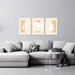 Kit Quadros Decorativos Folhas Minimalista
