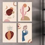 Kit Quadros Decorativos Abstratos