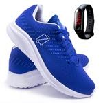 Tênis Masculino FAST Caminhada/Academia + Relógio - Azul - Lorenzzo Lopez