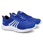 Kit 2 Pares Tênis Masculino Run Caminhada/Academia Preto/Azul + Relógio - Lorenzzo Lopez
