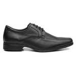 Sapato Social Masculino Clássico Em Couro Preto - Style