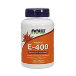 Vitamina E-400 100% Natural - Now Foods, 400 IU - 100 SOFTGELS
