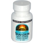 Vanádio com Cromo, Source Naturals, 90 Tablets