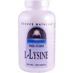 L-Lysine - Source Naturals - 500 mg - 250 Tablets
