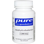 Methylcobalamin, Pure Encapsulations, 1000 mcg - 180 Capsulas