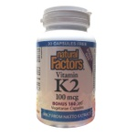Vitamina K2 MK-7 - Natural Factors - 100mcg 180 cápsulas