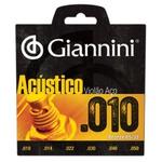 Cordas Para Violão Giannini Aço (conjunto) 010 ou 09
