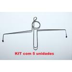 KIT 5 unidades - Prendedor De Hinário Clave de Sol niquelado