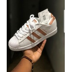 TÊnis Adidas Superstar Foundation Branco/rose - Importado