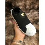 Tênis Adidas Superstar Slip On W Matelassê Preto