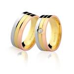 Alianças de Casamento Top em Ouro Branco, Amarelo e Rosê