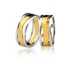 Alianças Top Bodas de Prata em Ouro 18K Sem Brilhantes