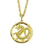 Pingente Dragão Chinês em Ouro