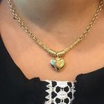 Gargantilha em Ouro 18k Coração