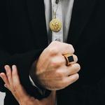 Anel em Ouro 18k Masculino com Onix