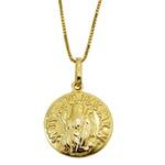 Pingente de ouro Medalha de São Bento