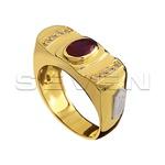 Anéis de formatura Masculinos com Brilhantes e Pedra Natural