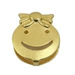 Pingente de Ouro Happy Face Menina