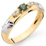 Anéis de formatura Serviço Social em ouro com Brilhantes e Pedra Natural